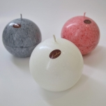 White Ball Candle, 10 cm