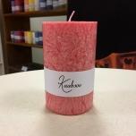 Pink Pillar Candle, 11x7 cm