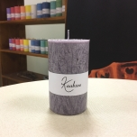 Grey Pillar Candle, 10x6