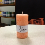 Orange Pillar Candle, 9x5 cm