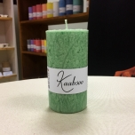Green Pillar Candle, 9x5 cm