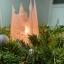 Valge pitsiline püramiid looduslik taimne steariinküünal Pyramid Shaped Natural White Cobweb Candle