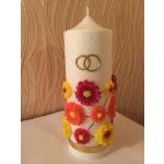 Küünal pulmaaastapäevaks, <br>mis sisaldab algse pulmaküünla vaha