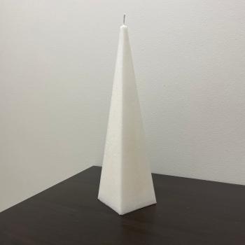 Püramiidikujuline looduslik taimsest steariinist valge käsitööküünal Natural Vegetable Stearin Handmade White Pyramid Shaped Candle