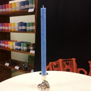 Helesinine kroonküünal antiikküünal steariinküünal Light Blue Dinner candle Kaabsoo