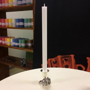 Valge kristalliline antiikküünal kroonküünal White pure natural stearin dinner candle Kaabsoo