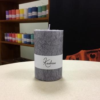 Hall suur lauaküünal käsitööküünal Gray Large Handmade Pillar Candle