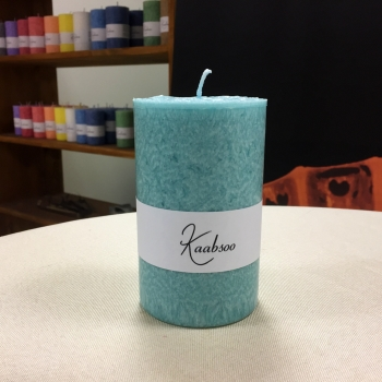 Mint suur roheline looduslik käsitöö lauaküünal Kaabsoo Mint Large Natural Pillar Candle Handmade