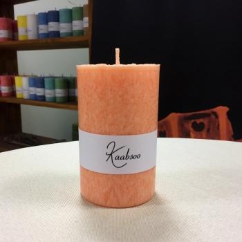 Oranž suur käsitöö looduslik pitsiline küünal Kaabsoo Orange Large Pillar Candle