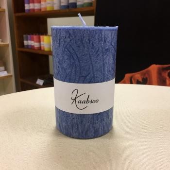 Suur tumesinine käsitöö pitsiline küünal Large Dark Blue Cobweb Candle Kaabsoo