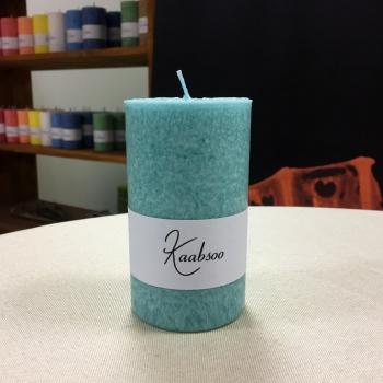 Pitsiline mint mündi roheline lauaküünal Kaabsoo Minte Green Cobweb Pillar Candle
