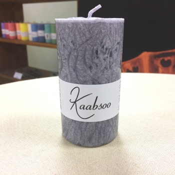 Hall looduslik käsitöö pitsiline lauaküünal Gray Natural Cobweb Pillar Candle