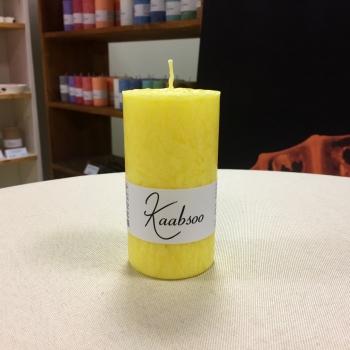 Kollane lauaküünal steariinküünal Yellow pillar candle