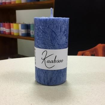 Looduslik käsitööküünal pitsiline tumesinine väike küünal Natural Handamade Candle Dark Blue Small