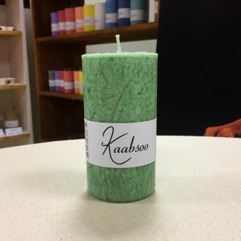 Roheline käsitöö lauaküünal looduslik Green Handmade Natural Pillar Candle