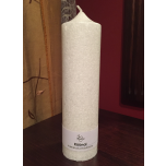 White Pillar Candle, 20x6 cm
