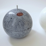 Gray Ball Candle, 10 cm