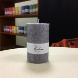 Grey Pillar Candle, 11x7