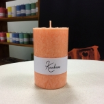 Orange Pillar Candle, 11x7 cm