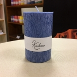Dark Blue Pillar Candle, 11x7 cm