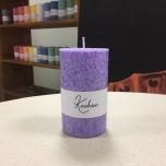 Lilac Pillar Candle, 10x6