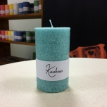 Mint Pillar Candle, 10x6 cm