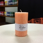 Orange Pillar Candle, 10x6 cm