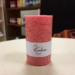 Pink Pillar Candle, 10x6 cm