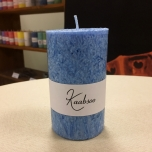 Light Blue Pillar Candle, 10x6 cm