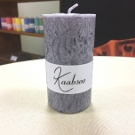 Grey Pillar Candle, 9x5