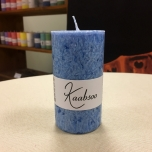 Light Blue Pillar Candle, 9x5 cm