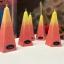 Mitmevaärvilised küünlad looduslikust steariinist Arctic multicolor Natural Vegetable Stearin Candles