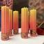 Mitmevärvilised looduslikud küünlad Gothic multi-color natural vegetable candles