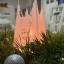 Pitsiline püdamiidikujuline oliivisteariinist küünal Cobweb Natural Olive Stearin Handmade Candle