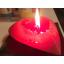 Südame küünal valentinipäevaks Heart-Shaped Candle for Valentines Day